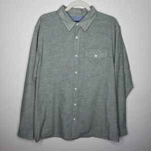 Patagonia Organic Cotton Mens L/S green button up